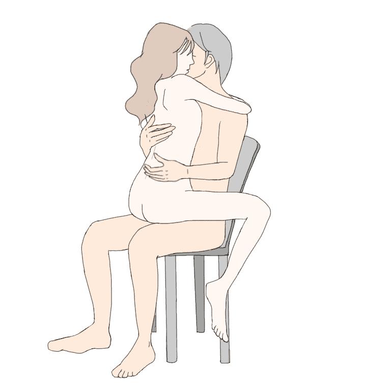 【性交痛を和らげる体位】抱き地蔵